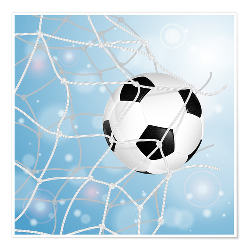 Póster Soccer Ball in Net