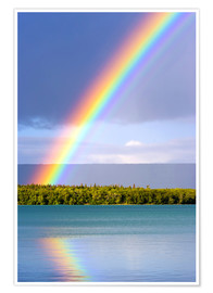 Póster  Rainbow at Lake Naknek - Jerry Ginsberg