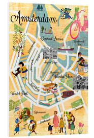 Cuadro de PVC  Vintage Amsterdam Collage Poster - GreenNest