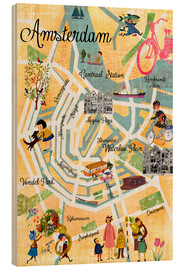 Madera  Vintage Amsterdam Collage Poster - GreenNest