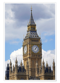 Póster  The Big Ben and the Palace of Westminster - David Wall
