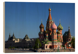 Madera  St. Basil's Cathedral on Red Square in Moscow - Walter Bibikow