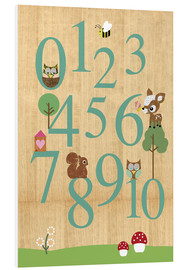 Cuadro de PVC  Educational Numbers - learn to count - GreenNest