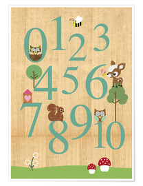 Póster  Educational Numbers - learn to count - GreenNest