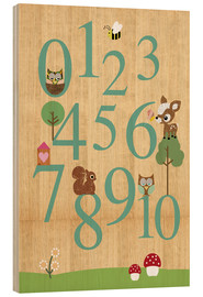 Cuadro de madera  Educational Numbers - learn to count - GreenNest