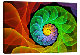 Lienzo  Fractal 'The colors and the light' - gabiw Art