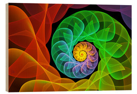 Cuadro de madera  Fractal 'The colors and the light' - gabiw Art