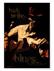 Póster Back to the blues