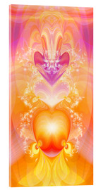 Cuadro de metacrilato  Spirit Love - I follow my loving heart - Dolphins DreamDesign