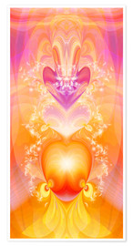 Póster  Spirit Love - I follow my loving heart - Dolphins DreamDesign