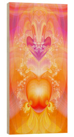 Cuadro de madera  Spirit Love - I follow my loving heart - Dolphins DreamDesign