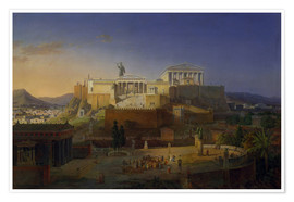 Póster  The Acropolis of Athens, 1846 - Leo von Klenze