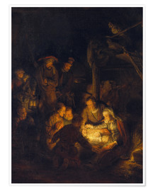 Póster Adoration of the Shepherds. 1646