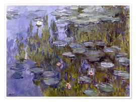 Póster  Water Lilies (Nympheas) - Claude Monet