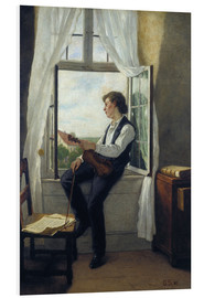 Cuadro de PVC  The violinist at the window in 1861 - Otto Franz Scholderer