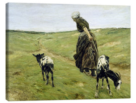 Lienzo  Woman with goats in the dunes - Max Liebermann