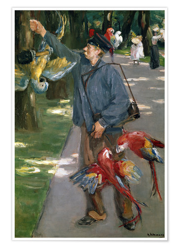 Póster Man with Parrots