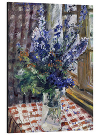 Cuadro de aluminio  Glass vase with Larkspur. 1924 - Lovis Corinth