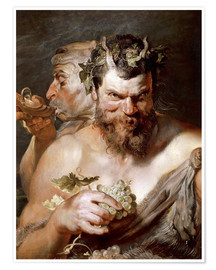 Póster  Two Satyrs - Peter Paul Rubens