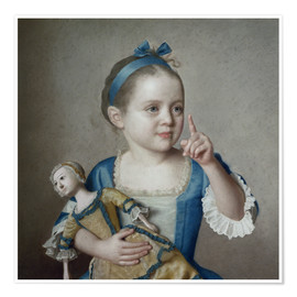 Póster Girl with doll