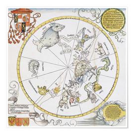 Póster Map of the Southern Sky. 1515