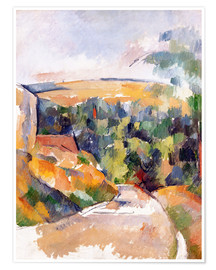 Póster  Bend in the road - Paul Cézanne