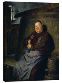 Lienzo  Brother master brewer of beer in the cellar. In 1902. - Eduard Grützner