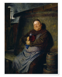 Póster  Brother master brewer of beer in the cellar. In 1902. - Eduard Grützner