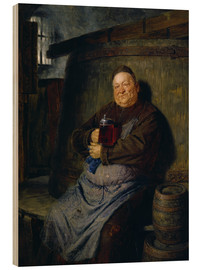 Cuadro de madera  Brother master brewer of beer in the cellar. In 1902. - Eduard Grützner