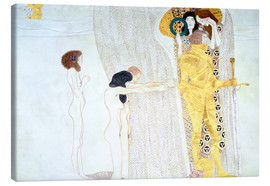 Lienzo  Beethoven Frieze, desire for the luck - Gustav Klimt