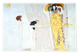 Póster  Beethoven Frieze, desire for the luck - Gustav Klimt