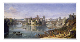 Póster The Tiber Island in Rome. 1685