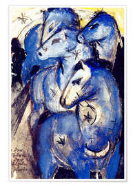 Póster  Tower Blue Horse - Franz Marc