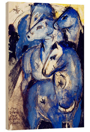 Madera  Tower Blue Horse - Franz Marc