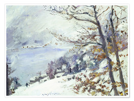 Póster  The Walchensee in winter - Lovis Corinth