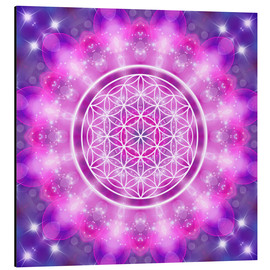 Cuadro de aluminio  Flower of Life - Love Essence - Dolphins DreamDesign