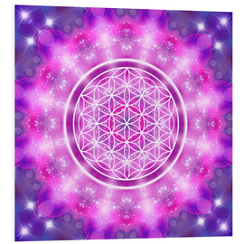 Cuadro de PVC  Flower of Life - Love Essence - Dolphins DreamDesign
