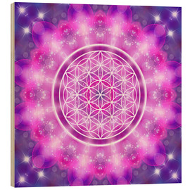 Cuadro de madera  Flower of Life - Love Essence - Dolphins DreamDesign
