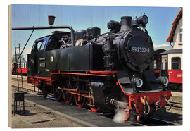 Cuadro de madera  historical steam train Molli - FineArt Panorama