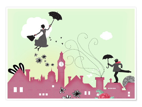 Póster Mary Poppins en Londres