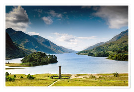 Póster Scotland - Glenfinnan at Loch Shiel