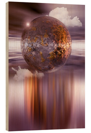 Madera  3D ball in purple and copper - INA FineArt