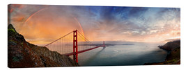 Lienzo  San Francisco Golden Gate with rainbow - Michael Rucker