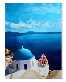 Póster  Santorini - View from Oia - M. Bleichner