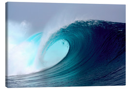 Lienzo  Tropical blue surfing wave - Paul Kennedy