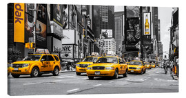 Lienzo  Taxis amarillos en Times Square - Hannes Cmarits
