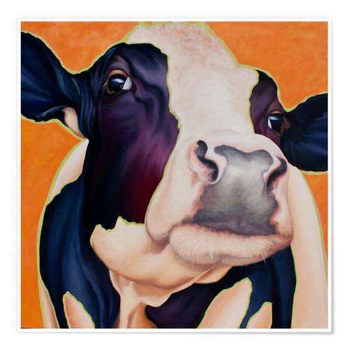 Póster Cow Rosa