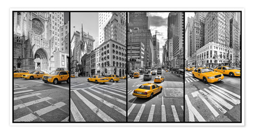 Póster New York Cab Collage