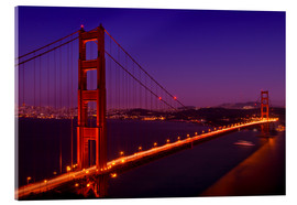 Metacrilato  Golden Gate Bridge by Night - Melanie Viola