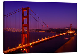 Lienzo  Golden Gate Bridge by Night - Melanie Viola